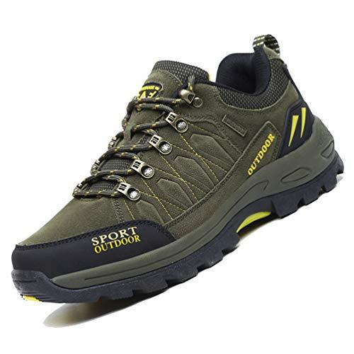 LANSEYAOJI Zapatillas de Trekking para Hombres Zapatillas de Senderismo Botas de Montaña Antideslizantes...