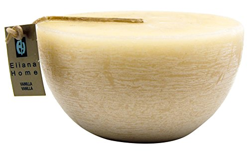 Eliana Home 443012 Bougie Semi-sphérique Parfum Vanille