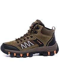 GJRRX Zapatillas de Senderismo Trekking para Hombre Botas de Senderismo Impermeables de Ocio al Aire Libre Zapatos de Deporte Zapatillas de Senderismo Cordones Trainer Botas Gris Marrón Verde 39-45