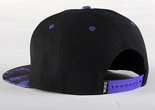 Imagen de aivtalk  negro hip hop sombrero estampado plano  de béisbol moda accesorio ajustable para mujer hombre alternativa