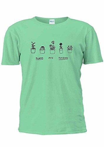 Piante sono amici Top Tumblr Festival Vegeterian Unisex T Shirt Top-Donna Light Green XXL