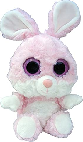 Peluche animal gros yeux Zoo Factory - Hollywood le lapin