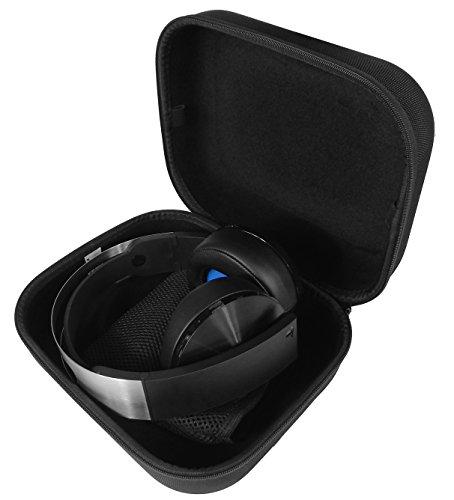 Casematix Schutzhülle für PS4 Gaming Headset, geeignet für Playstation 4 Platinum Wireless Headset, Dongle, Kabel und mehr