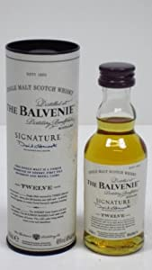 Balvenie 12 year old Signature Single Malt Scotch Whisky 5cl Miniature by Balvenie