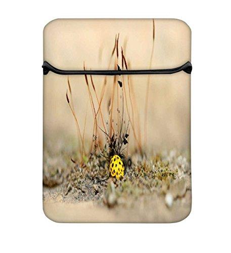 Snoogg gelb Leuchtmittel 25,4cm einfachen Zugang Gepolstertes Laptop Schutzhülle Flip Sleeve...