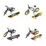 NUOBESTY mini tastiera finger skateboard bmx bici giocattolo skate board modello per bambini bambini 1 set (colore casuale)