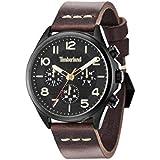 Timberland 14400JSB/02 - Reloj para hombres, correa de cuero color marrón