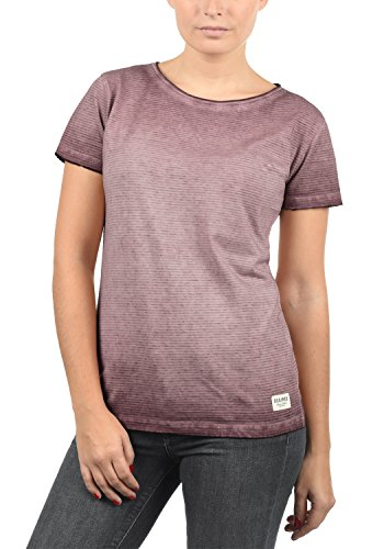 DESIRES Karin Damen T-Shirt Kurzarm Shirt mit Rundhalsausschnitt Aus 100% Baumwolle, Größe:L, Farbe:Wine Red (0985)