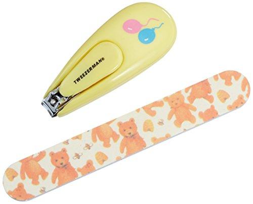 Tweezerman Nagelknipser für Babys und Nagelfeile mit Teddy-Motiv