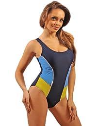 Stanteks Damen Bademode Badeanzug Schwimmanzug mit Cups Swimsuit SK0022
