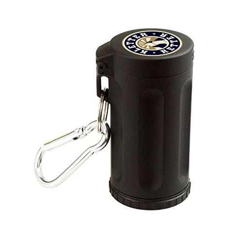 Verschließbarer Mini-Aschenbecher mit Karabinerhaken zum Mitnehmen und Aufbewahren von Asche/Kippen - wiederverwendbar und sehr leicht zu reinigen