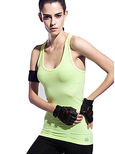 Jollychic - T-shirt de sport - Femme Jaune