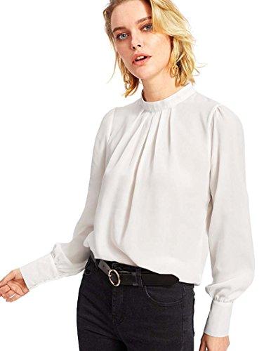 ROMWE - Camisas - para Mujer Weiß X-Large