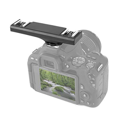 Hermosairis Dual Blitzschuh Speedlite Light Bracket Splitter für Canon 7DII 70D 5D2 60D 5DR 5DRS 5DIII 5D4 1DX 6D DSLR Camcorder