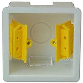 Appleby 1-Gang-Hohlwanddose (Trockenbau) für Lichtschalter etc., 47 mm - EA Electrical Appleby, Material:Kunststoff, Elektro-Einbaudose-Montage:Trockenbau / Wand, Innentiefe:47mm, Anzahl der Gänge:1