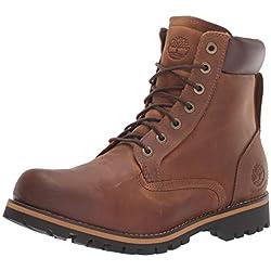 Timberland Rugged 6 inch Plain Toe Waterproof, Bottes Homme Marron (Medium Brown) 42 EU
