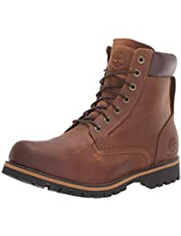 Timberland Men's Rugged 6 Inch Plain Toe Waterproof Lace-up Boots