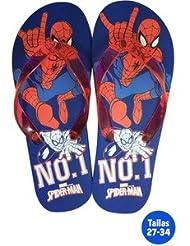 idealcasa Kids Chaussures Plage Enfant Spiderman bleu/rouge