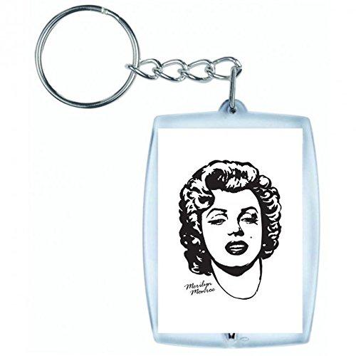 Marilyn Monroe Auto Accessoires - Druckerlebnis24 Schlüsselanhänger Monroe- Schauspielerin- Marilyn- Film-