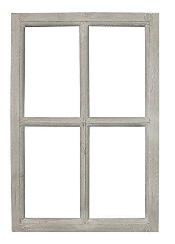 fensterrahmen deko fenster HSM Deko Fenster-Rahmen Shabby Grau gewischt Vintage ca. 40 x 2 x 60 cm