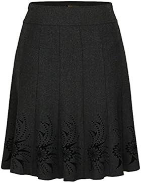 ZhiYuanAN Mujer Falda Plisado De Cintura Alta Retro Chic 3D Impresión Faldas Acampanadas Largas Moda Talla Grande...
