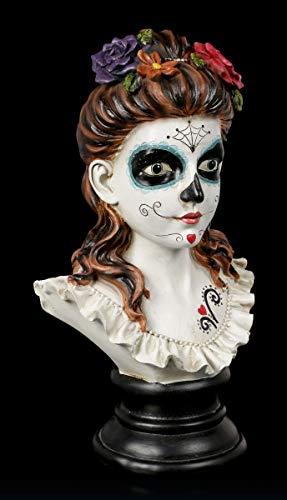 Figuren Shop GmbH Fantasy Day of The Dead Büste - Flores De Los Muertos | Deko-Figur, handbemalt, H 30,5 cm