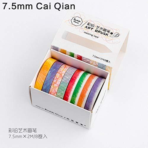 tz Bleistift Kreide Seriestape Set Farbe Masking Tape Scrapbooking DIY Aufkleber ()