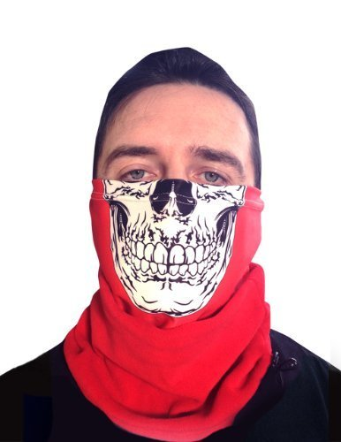 RED SKULL MASKE MIT FLEECE NECKTUBE FACEMASK NACKENWÄRMER SNOOD