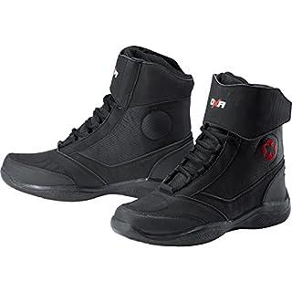 DXR Motorrad-Stiefel kurz Motorrad-Schuh Motorradschuhe Herren, Damen & Kinder, Motorradstiefel mit rutschfester Funktionssohle, Knöchelabdeckung, atmungsaktives Futter, schwarz, 40