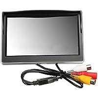 "Monitor LCD del coche - SODIAL(R) Nuevo 5"" 800*480 Monitor de pantalla HD LCD TFT para Camara de reserva de vista trasera de trasero del coche"