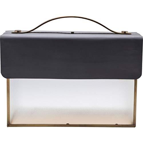 Kare design - Lampe à poser valise noire SMALL