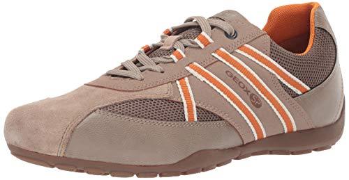 Geox Herren Ravex 3 Sneaker Turnschuh, Beige/Grau, 38.5 EU - Geox-mesh-sneakers