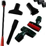 Maxorado, set di accessori per aspirapolvere per auto, con imbottitura, spazzola per la pulizia della cabina di pilotaggio, bocchetta per fughe, flessibile e pennello per la polvere, 32-35 mm