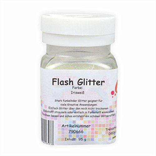 Creleo 790666Flash Glitter, 95g, irisweiß