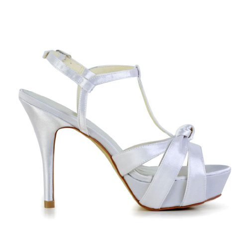 Jia Jia Wedding 1292 Scarpe Sposa Scarpe col tacco donna Bianco