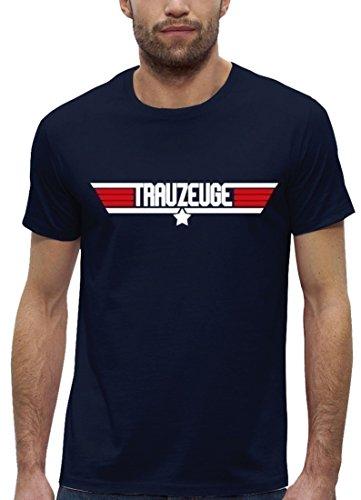 JGA Premium Herren T-Shirt aus Bio Baumwolle JGA 44 - Top Gun TRAUZEUGE Kombi Stanley Stella Navy