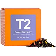T2 Tea French Earl Grey Loose Leaf Black Tea in Box, 100 g (3.5 Ounce)