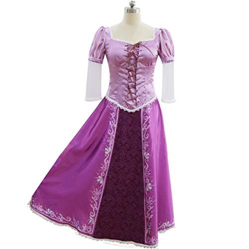 Kostüm Erwachsene Für Tangled - YKJ Kleidung Erwachsene Rollenspiele Party Maskerade Ball Dance Ballkleid Full Set Prinzessin Kleid,Long Skirt-M