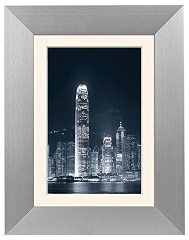 Zep S.r.l AL6S5 Collection Basic Cadre Photo avec Passe Biseauté Aluminium 30 x 40 cm