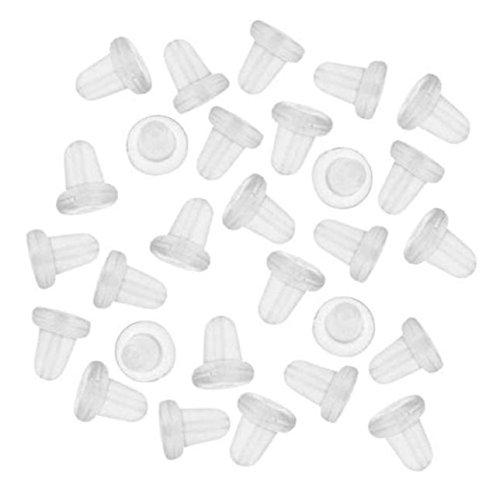 Yvelands150 Stück klare Clutch Ohrring Sicherheitsrückseiten für Angelhaken Ohrringe