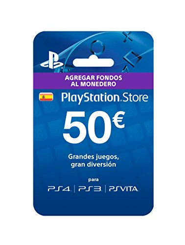 TARJETA PREPAGO MONEDERO SONY PLAYSTATION LIVE CARD 50 EUROS PS4 / PS3 / PSP / PSVITA