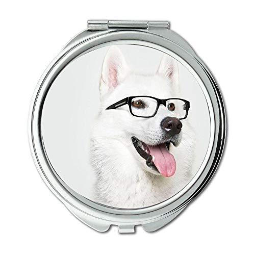 Yanteng Spiegel, Kleiner Spiegel, Mops Hund, Taschenspiegel, 1 X 2X Vergrößerung