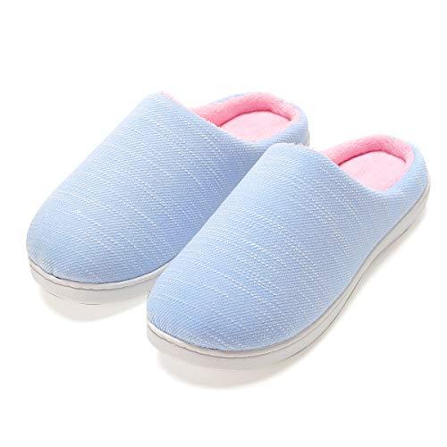 Zapatillas de casa de Mujer, Ultraligero cómodo y Antideslizante, Zapatilla de Estar por casa para Mujer