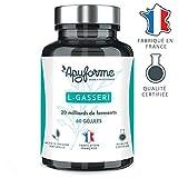 Probiotique Minceur Lactobacillus Gasseri • 20 Milliards d'UFC avec 2g/j • Complément Alimentaire L Gasseri 100% FRANÇAIS • Cure de 30 Jours 60 Gélules • Fabriqué et Conditionné en France par Apyforme...