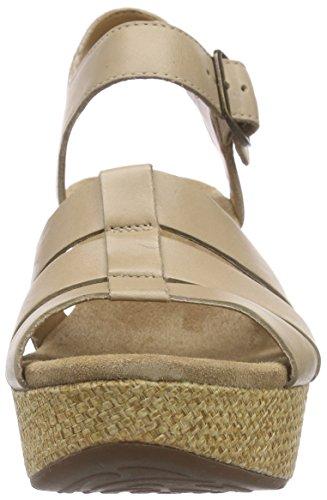 Clarks Caslynn Harp, Sandales Compensées femme Beige (Sand Leather)