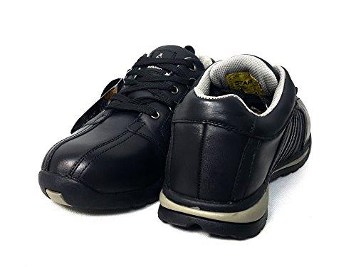 Chaussures de sécurité élégantes Starex en cuir/daim avec embout en acier, Cuir, SW-Grey/Black, 7 SW-Grey/Black