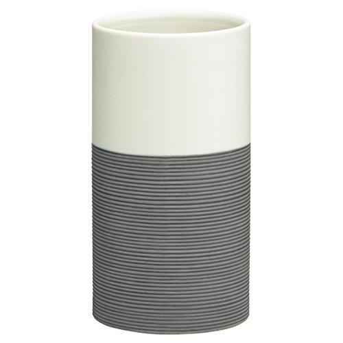 Sealskin 361840414 Becher Doppio Badaccessoire, Porzellan, grau, 6,7 x 6,7 x 12,6 cm