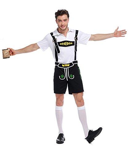 Tranditional German Girl/Men's Bavarian Beer Oktoberfest Yodeler Maiden Tavern Waitress Wench Halloween Fancy Dress ()