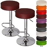 MIADOMODO Barhocker mit Fußablage   drehbar und höhenverstellbar   in verschiedenen Farben & Setwahl   Barsessel Barstuhl Esszimmer Möbel (Rotwein, 2er)
