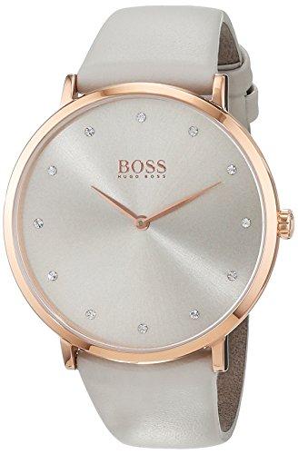 Hugo BOSS Femme Analogique Classique Quartz Montre avec Bracelet en Cuir 1502412